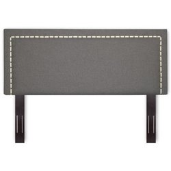 Bowery Hill Full Queen Upholstered Headboard in Jitterbug Ash