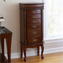 Bowery Hill Jewelry Armoire in Mahogany