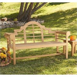 Bowery Hill Patio Bench in Light Brown
