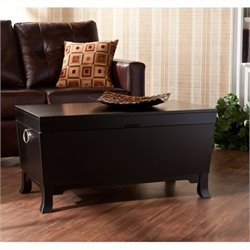 Bowery Hill Coffee Table Trunk in Black