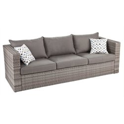 Bowery Hill Outdoor Deep Seating Sofa in Gray
