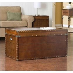 Bowery Hill Trunk Coffee Table in Walnut