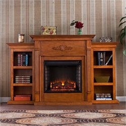 MER-1176 Electric Fireplace with Bookcases