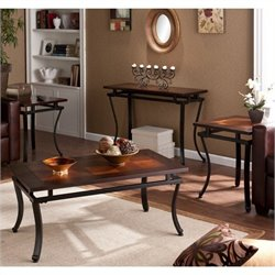 Bowery Hill 4 Piece Coffee Table Set in Rich Espresso