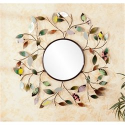 Bowery Hill Decorative Wall Mirror in Multicolor