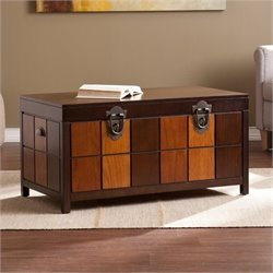 Bowery Hill Trunk Coffee Table in Espresso
