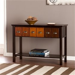 Bowery Hill Apothecary Console Table in Espresso