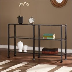 Bowery Hill 3 Tier Console Table in Black