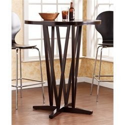 Bowery Hill Round Pub Table in Dark Espresso