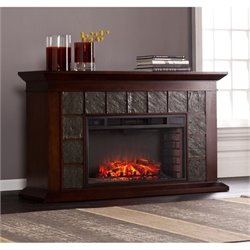 Bowery Hill Electric Fireplace in Warm Brown Walnut