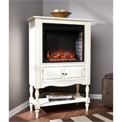 Bowery Hill Fireplace Tower in Antique White