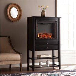 Bowery Hill Electric Fireplace Tower in Black