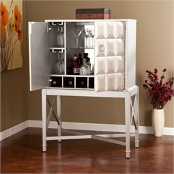 Bowery Hill Bar Sideboard Cabinet in Silver