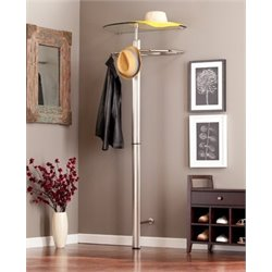 Bowery Hill Coat Rack in Silver