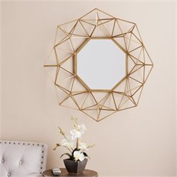 Bowery Hill Decorative Mirror in Matte Gold