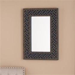 Bowery Hill Mirror in Soft Navy and Brass