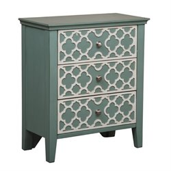 Bowery Hill 3 Drawer Chest in Seafoam