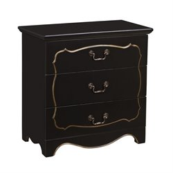 Bowery Hill 3 Drawer Chest in Black