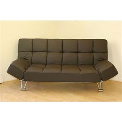 MER-1176 Faux Leather Convertible Sofa