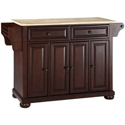 MER-1176 Kitchen Island in Mahogany