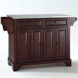MER-1176 Kitchen Island in Mahogany 1