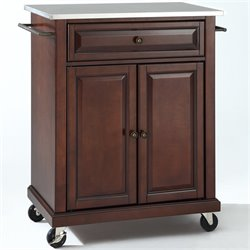 MER-1176 Kitchen Cart in Mahogany 1