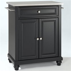 MER-1176 Kitchen Island in Black 2