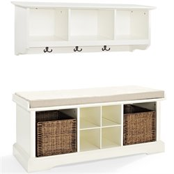 MER-1176 2 Piece Entryway Bench and Shelf Set