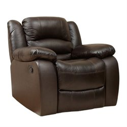 Bowery Hill Leather Recliner in Dark Truffle