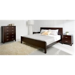 Bowery Hill 4 Piece King Bedroom Set in Brown