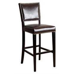 Bowery Hill 30 Leather Bar Stool in Brown