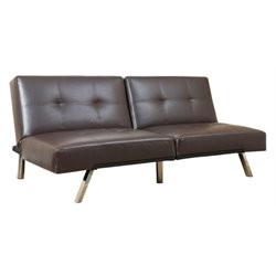 MER-1176 Leather Convertible Loveseat