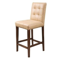 MER-1176 Leather Bar Stool in Camel