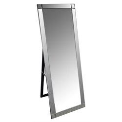 Bowery Hill Standing Floor Mirror in Silver