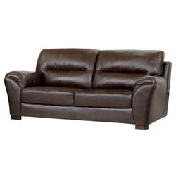 Bowery Hill Leather Sofa in Espresso