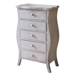 Bowery Hill 5 Drawer Chest in Gray