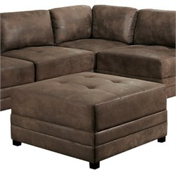 Bowery Hill Ottoman in Antique Brown