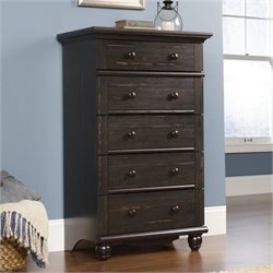 Bowery Hill 5 Drawer Chest in Antiqued Paint