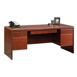 Bowery Hill Executive Desk in Classic Cherry