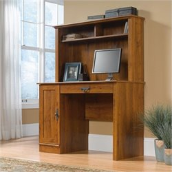 Bowery Hill Computer Desk with Hutch in Abbey Oak