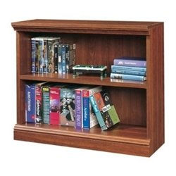 Bowery Hill 2 Shelf Bookcase in Planked Cherry