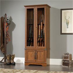 Bowery Hill Gun Display Cabinet in Washington Cherry