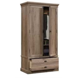 Bowery Hill Bedroom Armoire in Salt Oak