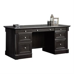 Bowery Hill Executive Desk in Wind Oak