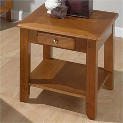Bowery Hill Wood End Table in Oak