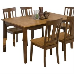 Bowery Hill Casual Dining Table in Espresso and Canyon Gold