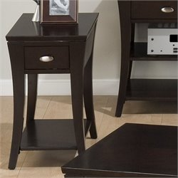 MER-1374 Bowery Hill End Table in Espresso