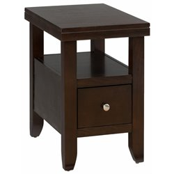 MER-1374 Bowery Hill End Table With Wood Top in Wenge