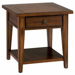 Bowery Hill Square End Table in Oak