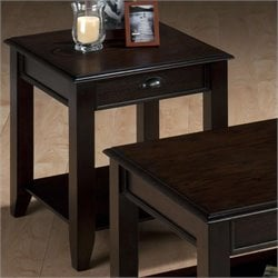 Bowery Hill End Table in Oak